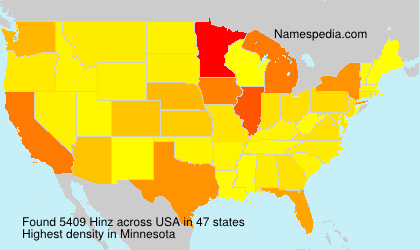 Surname Hinz in USA