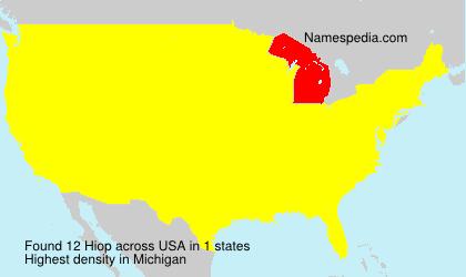 Familiennamen Hiop - USA