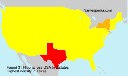 Familiennamen Hipo - USA