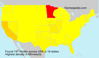 Surname Hirdler in USA
