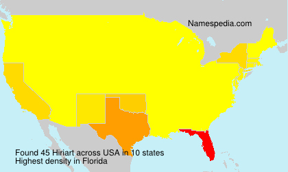 Surname Hiriart in USA