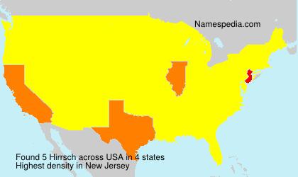 Surname Hirrsch in USA