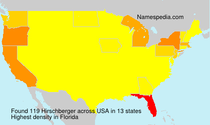 Surname Hirschberger in USA