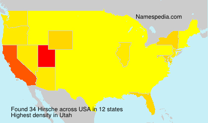 Surname Hirsche in USA