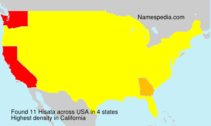 Surname Hisata in USA