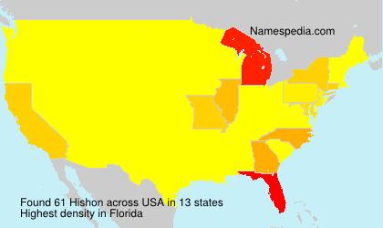 Surname Hishon in USA