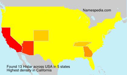 Surname Hislar in USA