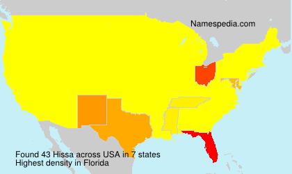 Surname Hissa in USA