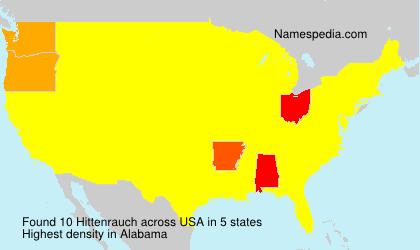 Surname Hittenrauch in USA