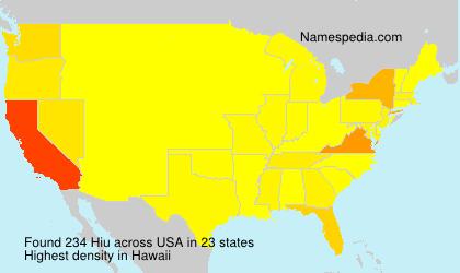 Familiennamen Hiu - USA
