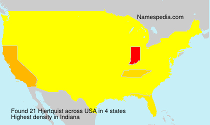 Surname Hjertquist in USA