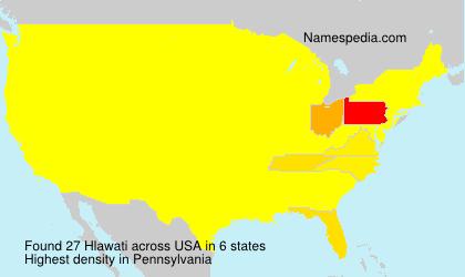 Surname Hlawati in USA