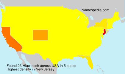 Surname Hlawatsch in USA