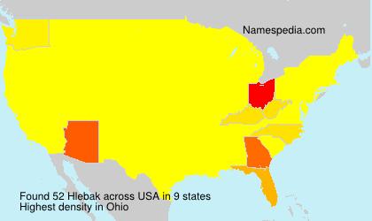 Surname Hlebak in USA
