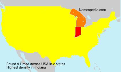 Familiennamen Hmad - USA