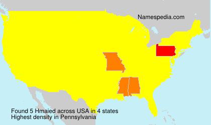 Familiennamen Hmaied - USA