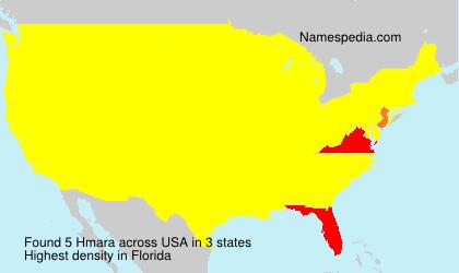 Surname Hmara in USA