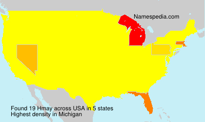 Surname Hmay in USA