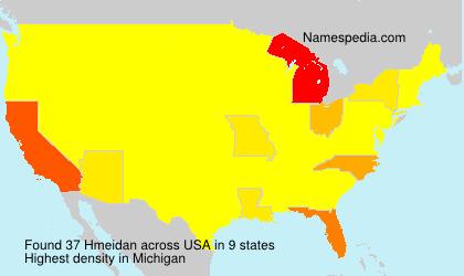 Surname Hmeidan in USA