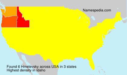 Familiennamen Hmelevsky - USA