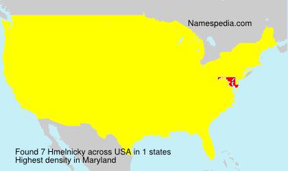 Familiennamen Hmelnicky - USA