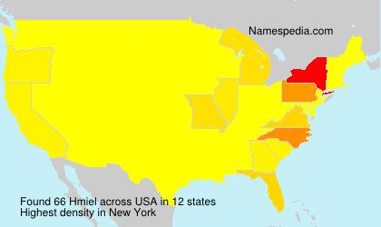 Familiennamen Hmiel - USA
