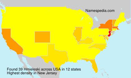 Familiennamen Hmieleski - USA