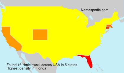 Surname Hmielowski in USA