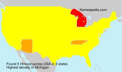 Familiennamen Hmood - USA