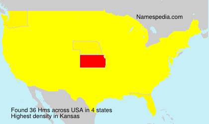 Familiennamen Hms - USA