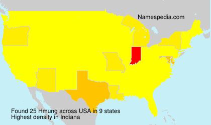 Surname Hmung in USA