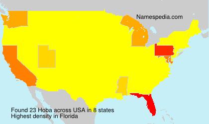 Familiennamen Hoba - USA