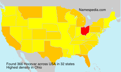 Surname Hocevar in USA