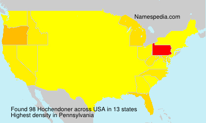 Surname Hochendoner in USA