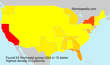 Surname Hochwald in USA