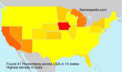 Surname Hockenberg in USA