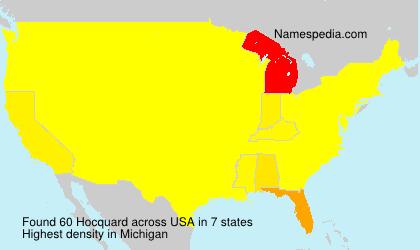 Surname Hocquard in USA