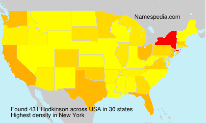 Surname Hodkinson in USA
