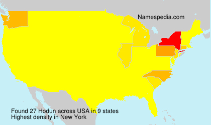 Surname Hodun in USA