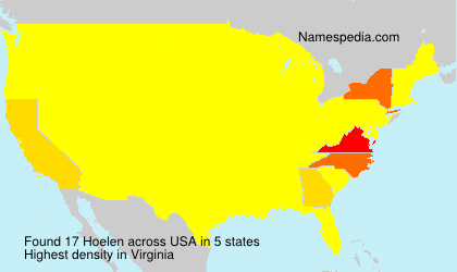 Familiennamen Hoelen - USA