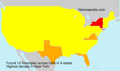 Surname Hoempler in USA