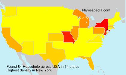 Familiennamen Hoeschele - USA