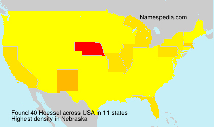Surname Hoessel in USA