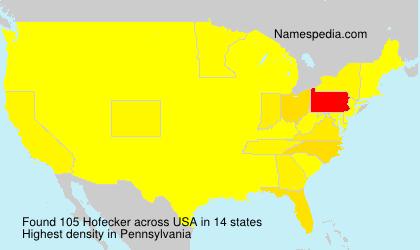 Surname Hofecker in USA