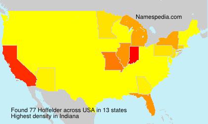 Surname Hoffelder in USA