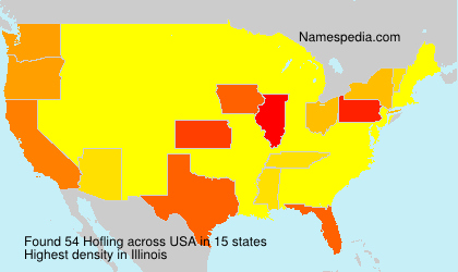 Surname Hofling in USA