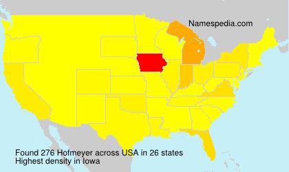 Surname Hofmeyer in USA