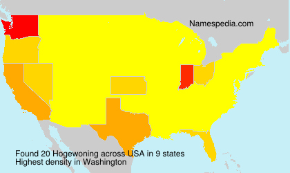 Surname Hogewoning in USA