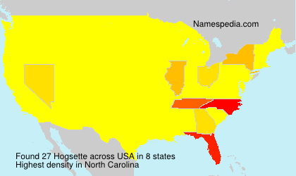 Surname Hogsette in USA