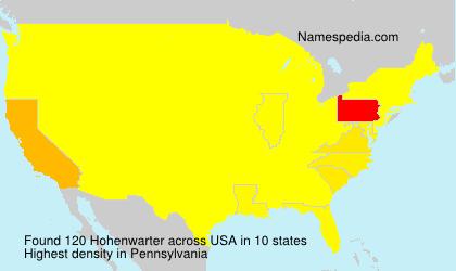 Familiennamen Hohenwarter - USA